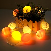 2019 Easter Decoration 1.5m Eggs Shaped LED Light String DIY Decor for Easter Party Easter Garland Ornament for wielkanoc