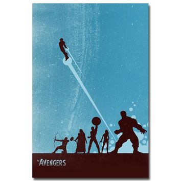 NICOLESHENTING Avengers 2 Age of Ultron Movie Art Silk Poster 12x18 24x36 Hulk Captain America Iron Man Thor Black Widow 018