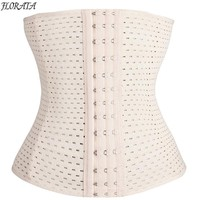 *USPS* Hot Sale Waist Trainer Corset Slimming Belt Body Shaper Breathe Underbust Steel Boned Bodysuit Women Sexy Binder Trans