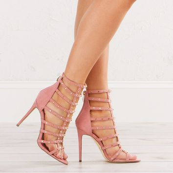Strappy Sandals Nude and Pink