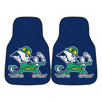 Notre Dame Fighting Irish NCAA Car Floor Mats (2 Front) ND Logo