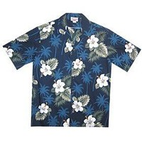 Hilo Blue Hawaiian Teen Cotton Aloha Shirt