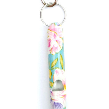 Floral Whistle Keychain