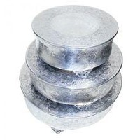 Beautiful 3 Pc Round Cake Stand - Benzara