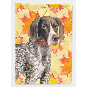 German Shorthaired Pointer Fall Flag Garden Size BB9902GF