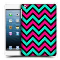 HEAD CASE DESIGNS NEON CHEVRON HARD BACK CASE COVER FOR APPLE iPAD MINI