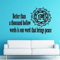 Wall Decals Better Than A Thousand Hollow Quote Yoga Buddha Flower Elephant Decal Vinyl Sticker Nursery Home Art Bedroom Home Decor Ms87