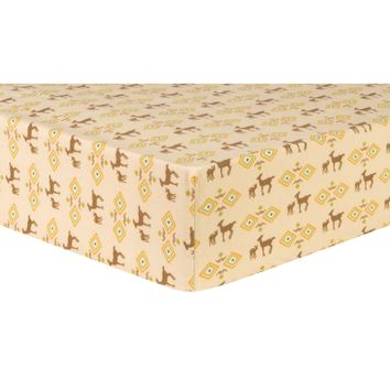 Deer Aztec Deluxe Flannel Fitted Crib Sheet