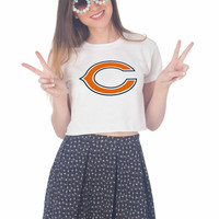 Chicago Bears Art For Womens Crop Shirt **
