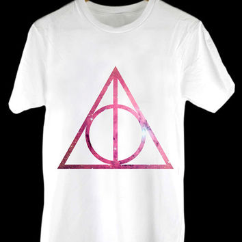 Deathly Hallows Galaxy Harry Potter design clothing for T Shirt Mens and T Shirt Girls