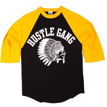Tees - Raglan - Grand Hustle Gang Core Logo Raglan - Black Gold White - DTLR -  Down Town Locker Room. Your Fashion, Your Lifestyle!