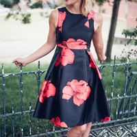 Flirty Floral Flared Dress