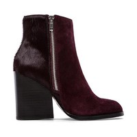 Peace Love Shea x Steve Madden Studio Bootie with Cow Hair in Wine