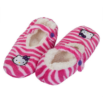 Hello Kitty - Face Pink Women's Slipper Socks