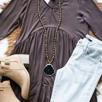Love All Day Babydoll Tunic, Brown