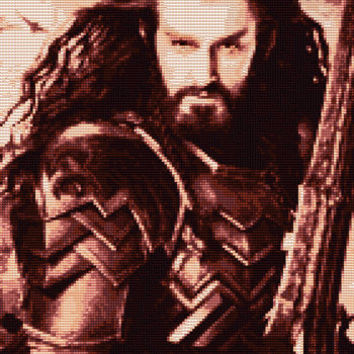 Thorin Oakenshield Cross Stitch Pattern