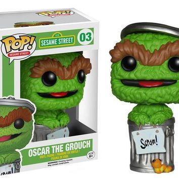 Funko Pop TV Sesame Street: Oscar The Grouch Vinyl Action Figure Collectible Toy