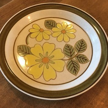 "Vintage Premiere Mikasa P 6030 Lazy Daisies 10 3/4"" Replacement Dinner Plate"