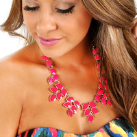 Had To Be You Necklace: Hot Pink