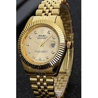 Rolex Men Fashion Trending Quartz Watches Wrist Watch Pure gold G