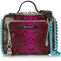 House of Holland | Lunch Box snake-effect leather shoulder bag | NET-A-PORTER.COM