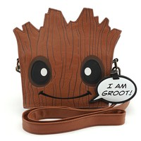 Loungefly x Marvel Groot Die Cut Crossbody Bag - Bags
