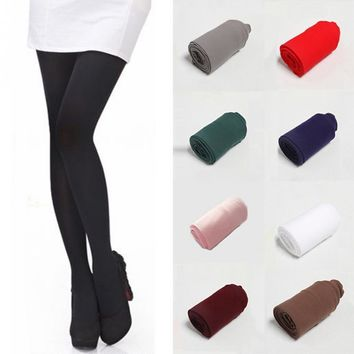 11 Solid Colors High Quality Fashion Sexy Women Thick Warm Winter Stockings Stretch Tights Opaque Pantyhose Long Stockings
