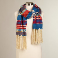 Blue and Orange Scarf