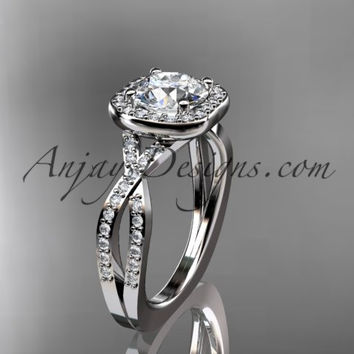 platinum wedding ring, engagement ring ADER393