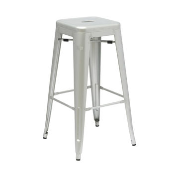 Bistro Bar Stool in Silver