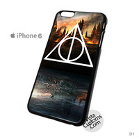 Hogwarts Deathly Hallows Phone Case For Apple,  iPhone 4, 4S, 5, 5S, 5C, 6, 6 +, iPod, 4 / 5, iPad 3 / 4 / 5, Samsung, Galaxy, S3, S4, S5, S6, Note, HTC, HTC One, HTC One X, BlackBerry, Z10