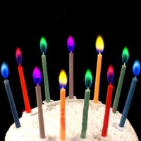 Hot Sale 6Pcs Colored Birthday Cake Candles Safe Flames Party Festivals Home Decorations