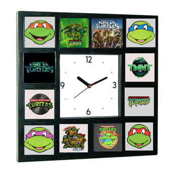 The Teenage Mutant Ninja Turtles History Clock with 12 dial images