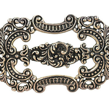 Sterling Silver Baroque Hair Barrette