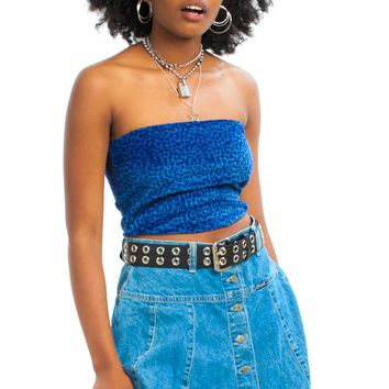 Vintage 90's Scallop Creek Denim Mini Skirt - L