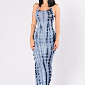 Mermaid on Land Dress - Blue