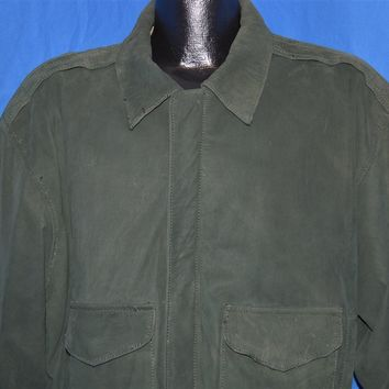 90s INXS Green Suede Leather Jacket Men's Medium