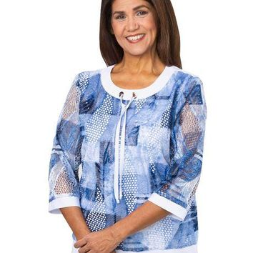 Women's Trendy Adaptive Apparel Top - Back Snap Shirt (size: from Small to XLarge)