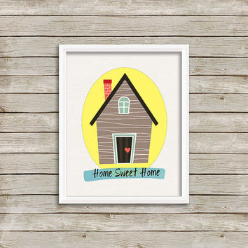 Home Sweet Home - Wall Art, Print 8 x 10 INSTANT Digital Download Printable