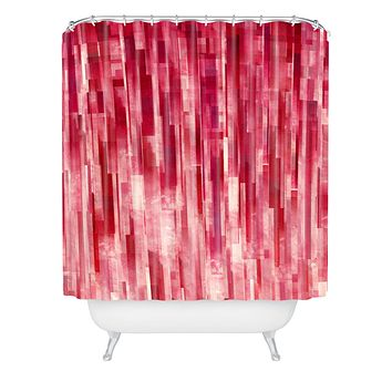 Jacqueline Maldonado Red Rain Shower Curtain