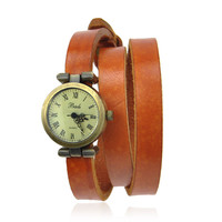 Vintage Look Leather Wrap Watch on Luulla