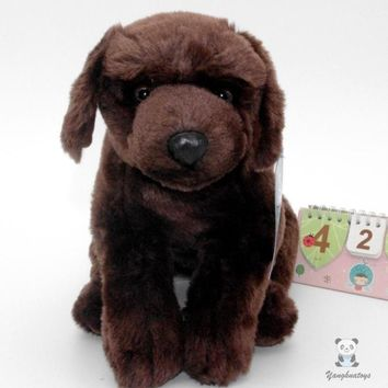 Brown Labrador Retriever Dog Stuffed Animal Plush Toy 11""