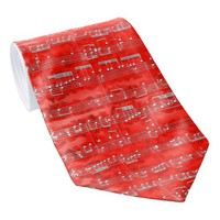 Nota Bene (red and white) Tie