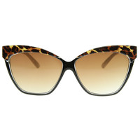 High Brow Oversize Cat Eye Pointed Tip Fashion Sunglasses 8521