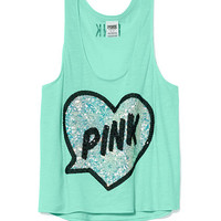 Bling Crop Tank - PINK - Victoria's Secret