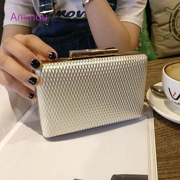 Aminou Women Evening Bags Mini Day Clutch Bag Handbags Ladies Party Fashion Shoulder Bag For Gift Minaudiere Bolsa 4 Colors