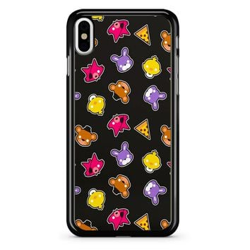 Fnaf Freddy S Faces Pattern Cute Kawaii Chibi iPhone X Case