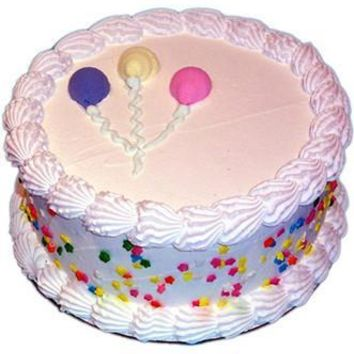 PRCKC901 9In Vanilla Celebration Faux Fake Birthday Cake Photo Prop