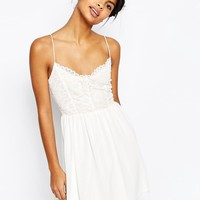 ASOS Lace Top Chiffon Skater Dress at asos.com
