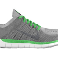 Nike Free 5.0 Flyknit Hybrid iD Custom Men's Running Shoes - Green